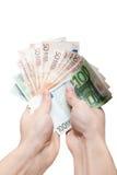 деньги рук ваши Стоковое Фото
