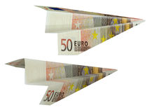 деньги самолета Стоковое Изображение RF