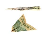 деньги самолета Стоковое фото RF