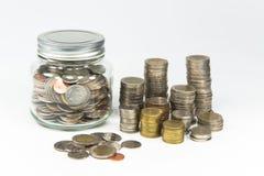 Деньги сбережений в опарнике на будущее Стоковые Фотографии RF