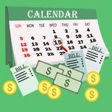 Деньги сбережений для оплачивая счетов Концепция дела, финансов и вклада Стоковые Фото