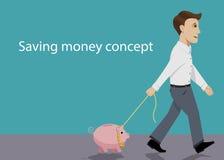 Деньги сбережений Стоковое Фото