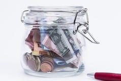 Деньги сбережений Стоковые Изображения