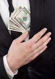 деньги сердца ближайше Стоковое Фото