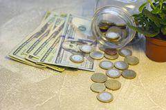 Деньги Соединенных Штатов бумажные стоковые фотографии rf