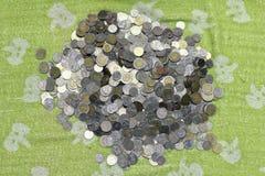 Деньги стога монеток Таиланда бата Стоковое Фото