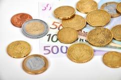 Деньги счета евро Стоковые Фотографии RF