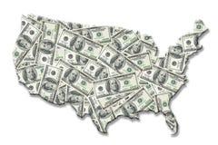 деньги США карты иллюстрация вектора