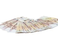 Деньги, тайская ванна 1000 валюты близкий поднимающий вверх взгляд ванны денег наличных денег стоковое фото rf