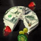 деньги торта Стоковые Фото