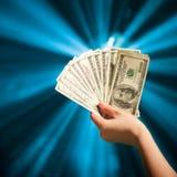 деньги удерживания руки Стоковые Изображения RF