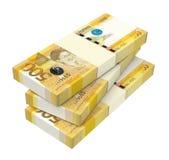 Деньги Филиппин изолированные на белой предпосылке Стоковое Изображение
