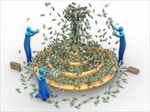 деньги фонтана Стоковые Фото