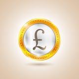 Деньги - фунты монетки также вектор иллюстрации притяжки corel иллюстрация штока