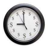 деньги часов стоковое изображение rf