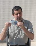 деньги человека руки евро дела Стоковое Изображение RF