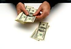 деньги человека Стоковое фото RF