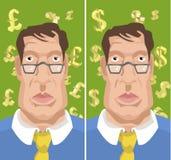 деньги человека Стоковые Изображения