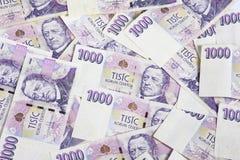 деньги 1000 чехов Стоковые Фото