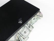 деньги 2 коробок полные Стоковое Изображение RF