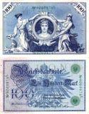 деньги 2 немцев старые стоковые изображения