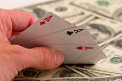 деньги 3 предпосылки туза Стоковая Фотография RF