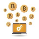Деньги Bitcoin открытого источника Стоковые Изображения RF