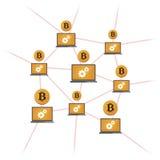 Деньги Bitcoin открытого источника иллюстрация штока