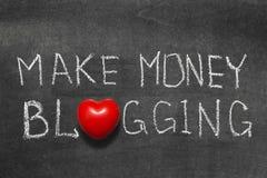 Деньги blogging Стоковая Фотография
