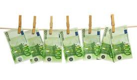 деньги clothesline laundering стоковые фотографии rf