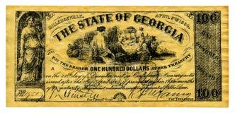 деньги confederate стоковые изображения