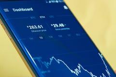 Деньги cryptocurrency Ethereum Стоковая Фотография RF
