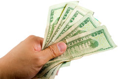деньги holdnig руки