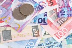 деньги Hong Kong предпосылки Стоковые Фото