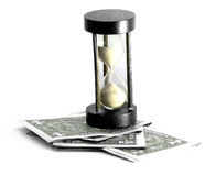 деньги hourglass Стоковые Изображения
