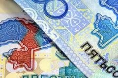 деньги kazakhstan стоковое изображение rf