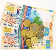 деньги kazakhstan стоковые фотографии rf