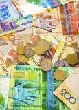 деньги kazakhstan стоковая фотография rf