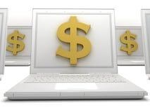 Деньги Labtop Стоковое фото RF