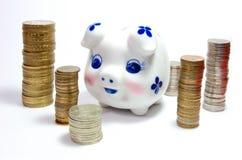 деньги piggy Стоковое Изображение RF