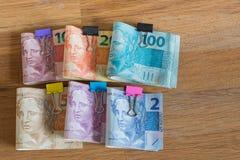 Деньги/reais Бразилии Стоковые Фото