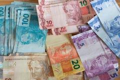 Деньги/reais Бразилии Стоковое фото RF