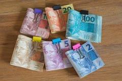 Деньги/reais Бразилии Стоковое Изображение RF