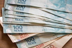 Деньги/reais Бразилии Стоковая Фотография RF