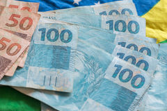 Деньги/reais Бразилии Стоковое Изображение