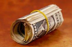 деньги roll2 Стоковая Фотография RF