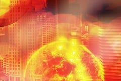 День апокалипсиса опасность ядерной войны разрушает все с стоковое изображение rf