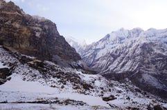 День базового лагеря Annapurna ясный Стоковое Изображение RF