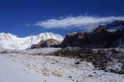 День базового лагеря Annapurna ясный Стоковая Фотография RF