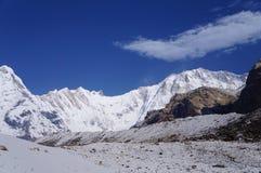 День базового лагеря Annapurna ясный Стоковые Фото